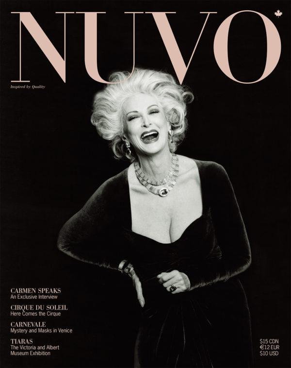 NUVO Magazine Winter 2002 Cover featuring Carmen Dell'Orefice