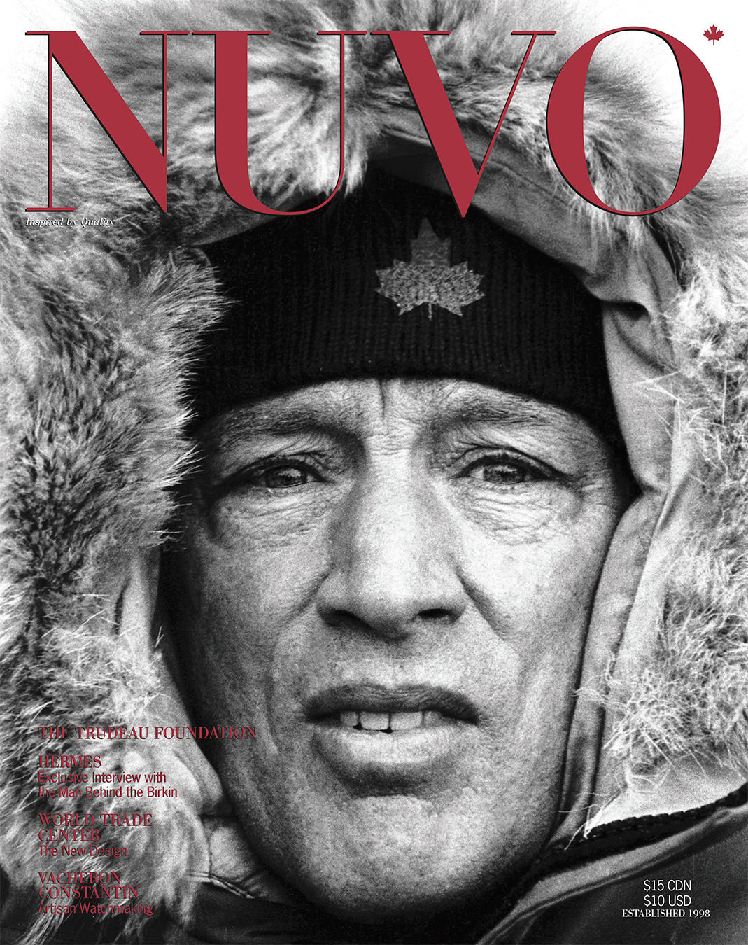 NUVO Magazine Winter 2003 Cover featuring Pierre Elliott Trudeau