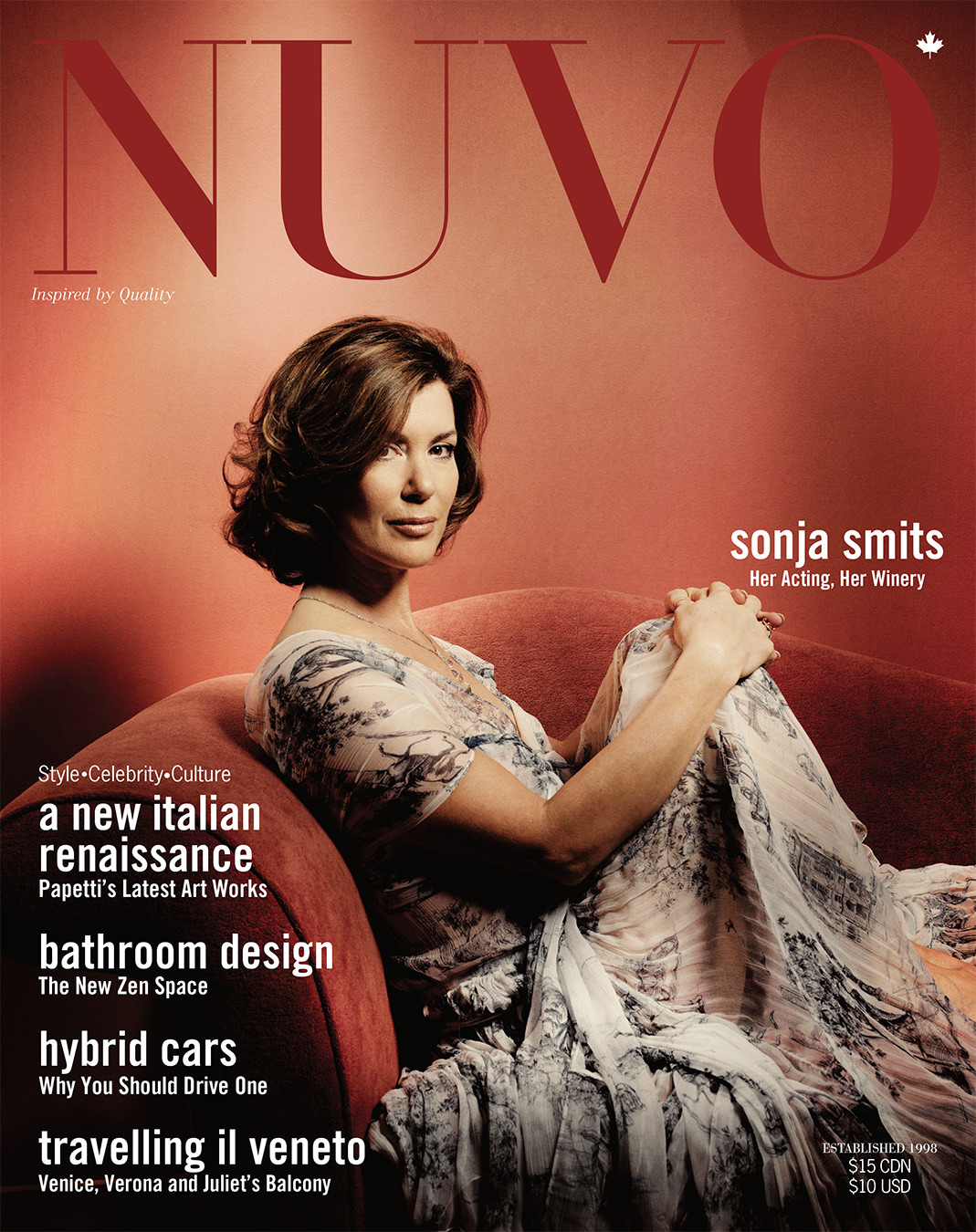 NUVO Magazine Spring 2005 Cover featuring Sonja Smits