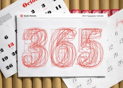 NUVO Daily Edit: 365 Typography Calendar