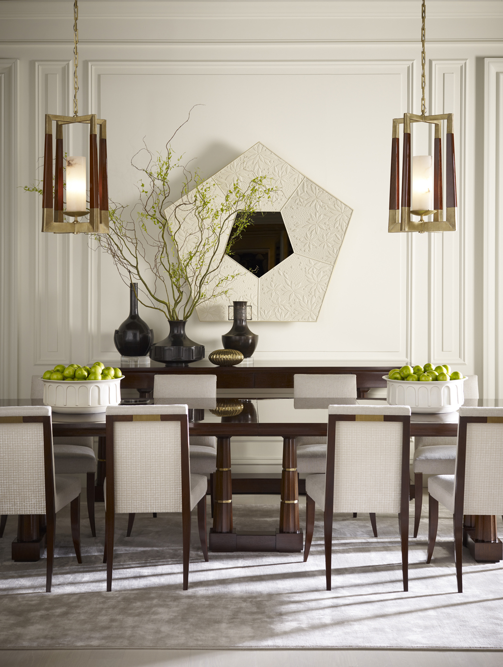 Interior designer thomas pheasant nuvo for Designer dining room chairs