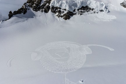 NUVO Daily Edit: Simon Beck Snow Art