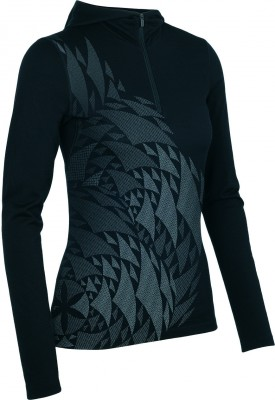 W_FW14_Base_Layers_Wmns_Oasis_LS_Half_Zip_Hood_Rosette_Black_NO_MODEL_102319001_SS