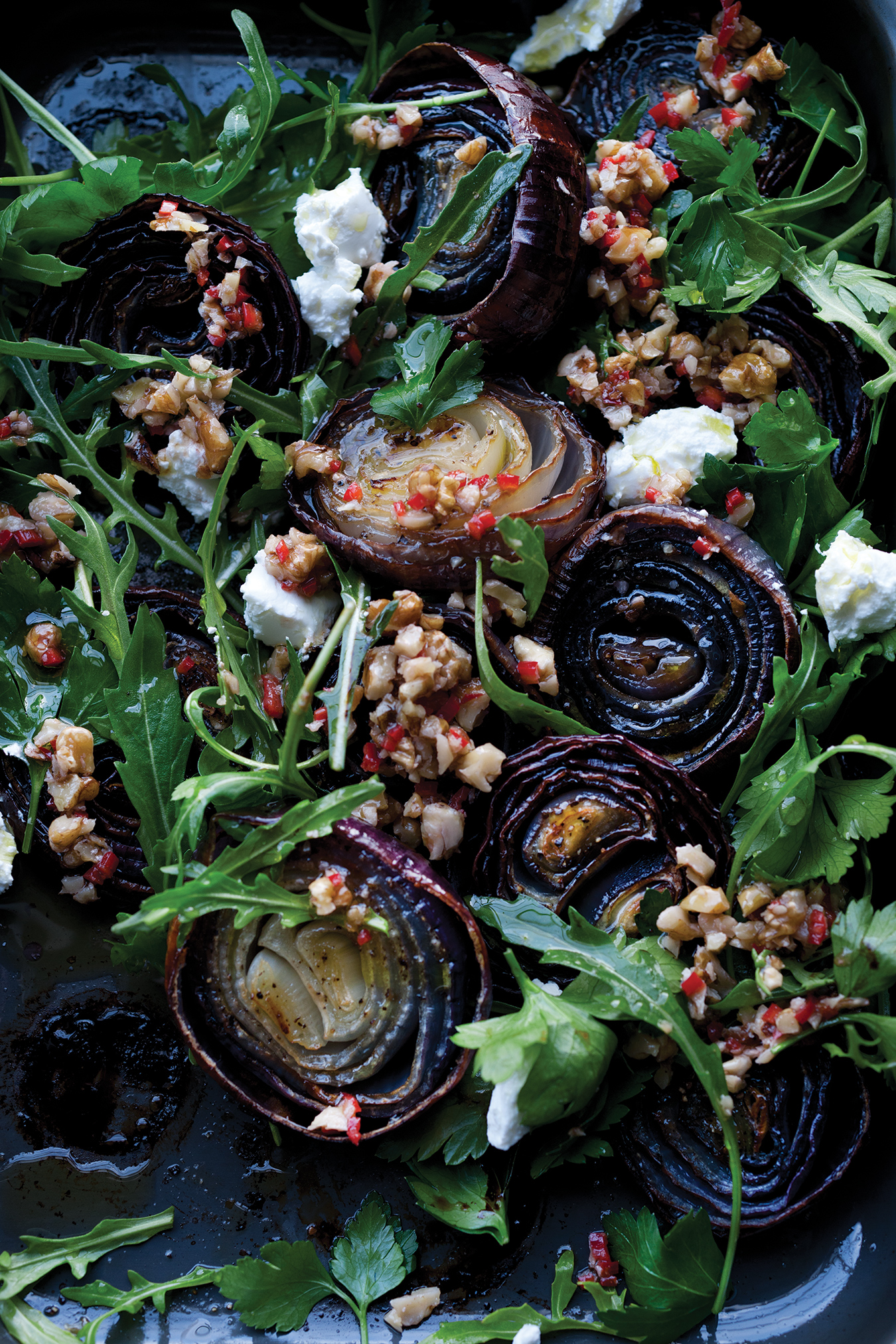 Red Onions With Walnut Salsa Recipe