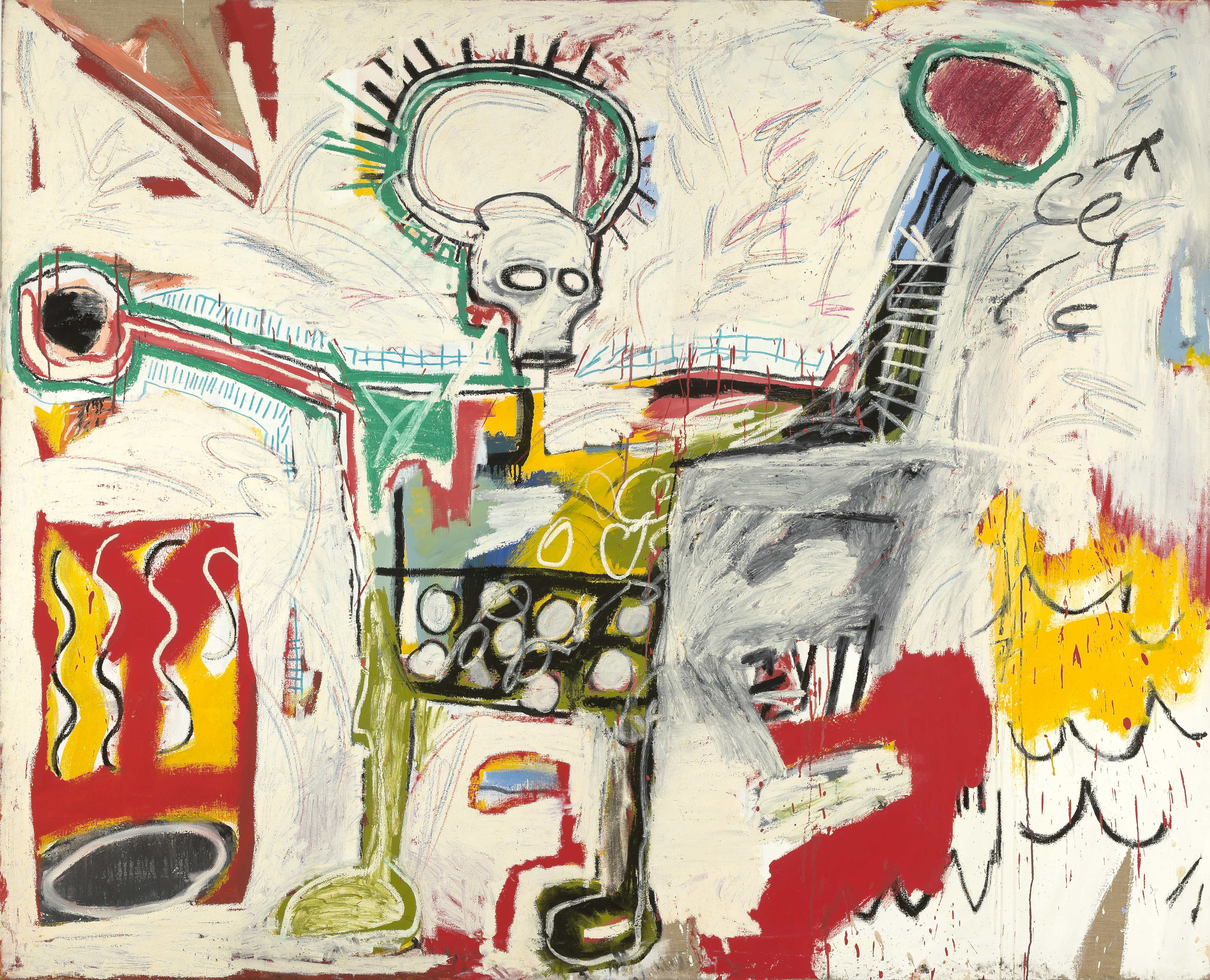 a critique of the paintings done by jean michel basquiat Jean-michel basquiat and the quest for a new semiotic machine  this series of paintings, done between 1984-85,  kant's critique of pure reason .