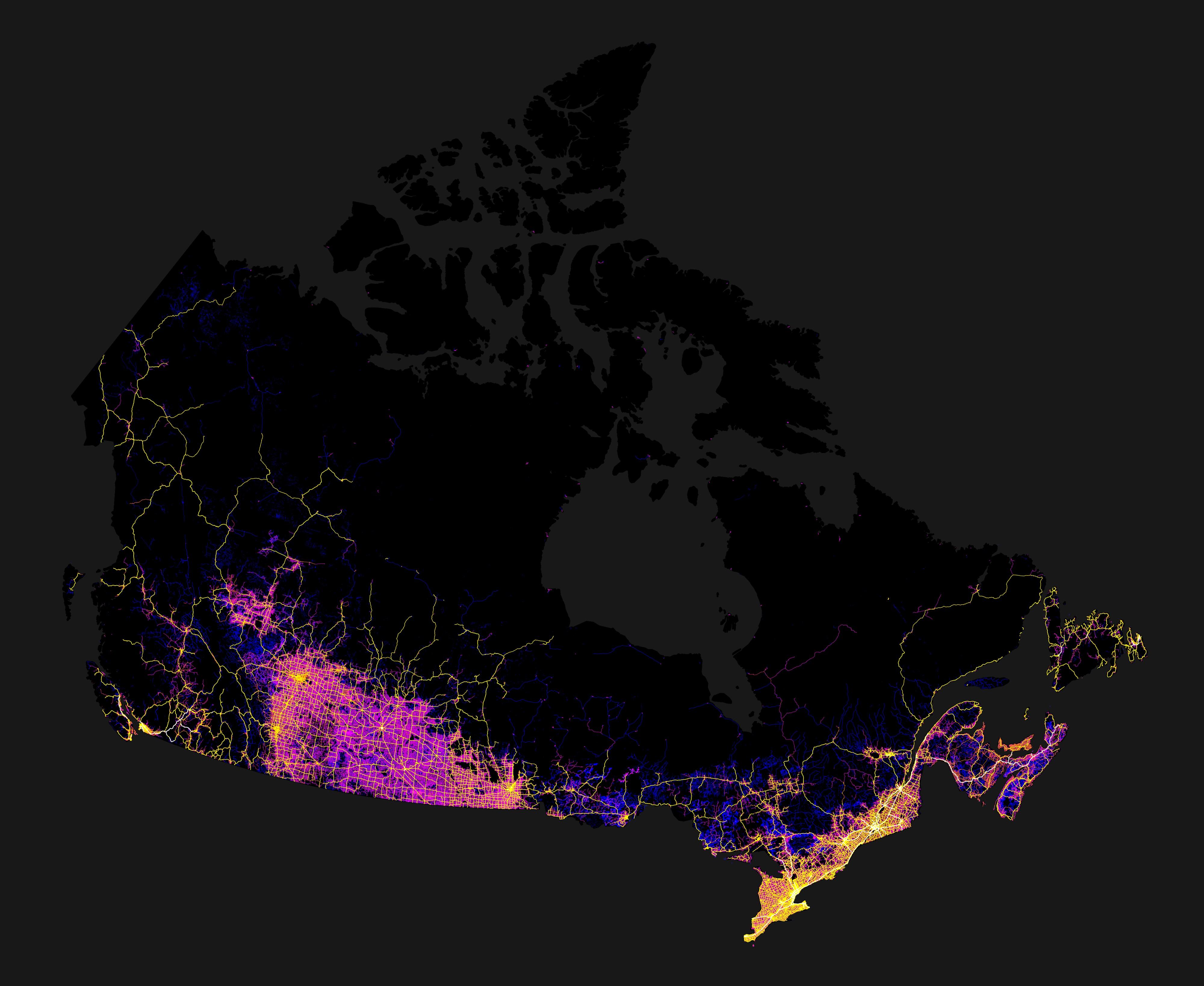 Map Of Canada Roads.Roads Of Canada Nuvo