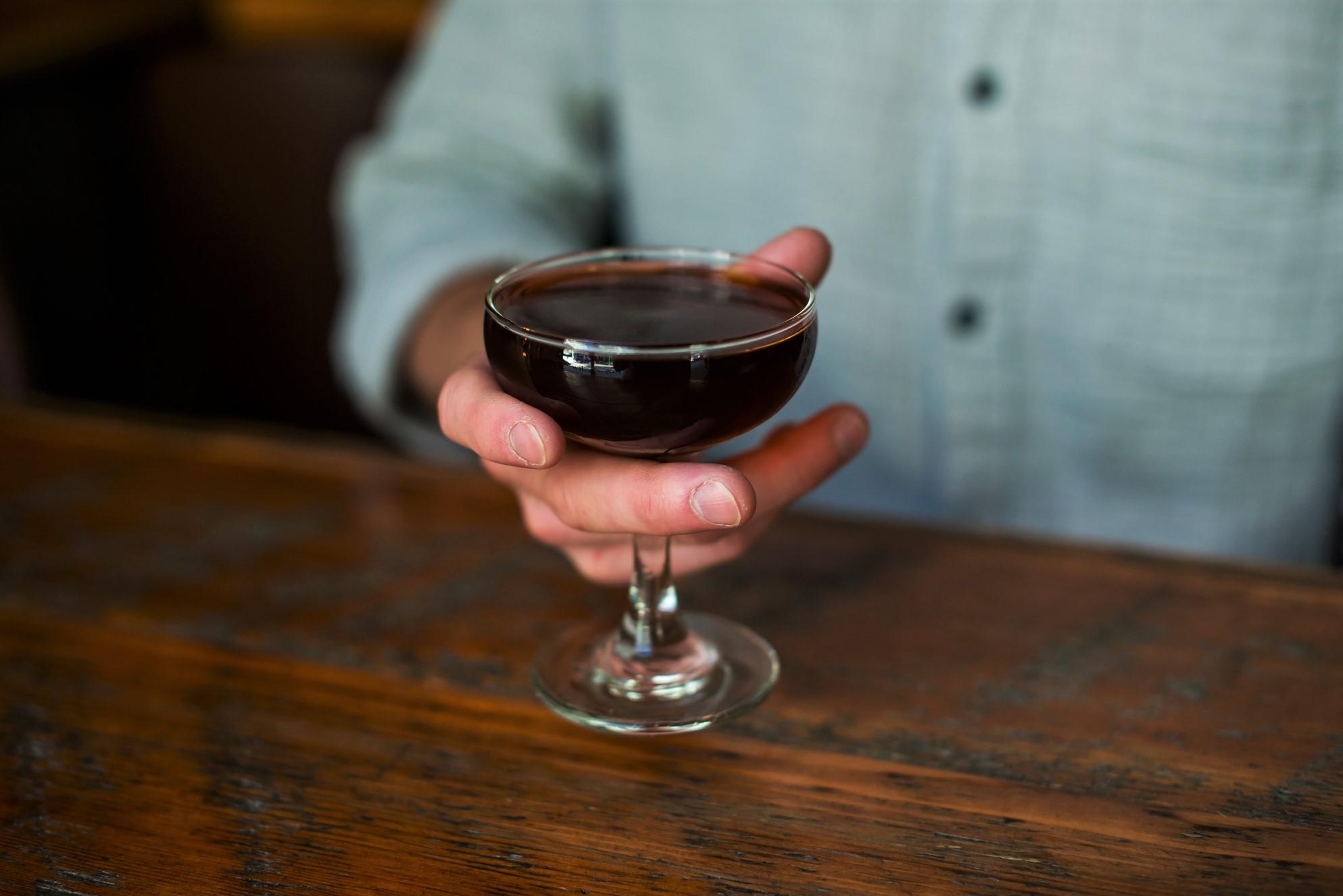 Dadhattan Cocktail